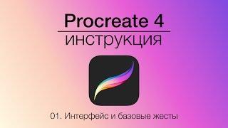 Инструкция Procreate Часть 1: Интерфейс и базовые жесты