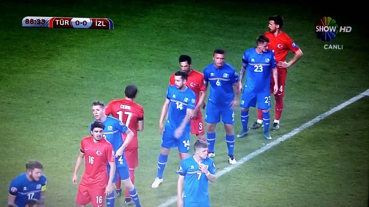 Türkiye 1-0 İzlanda Gol Selçuk İnan 13.10.2015