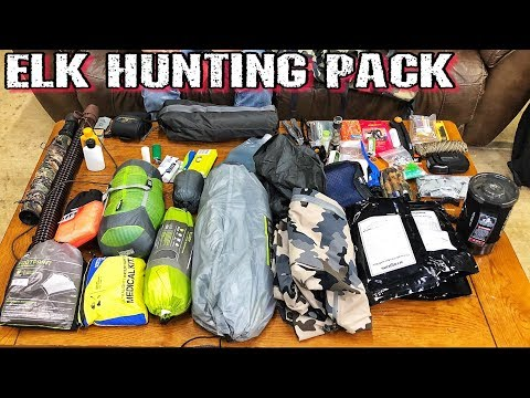 ELK Hunting Pack - 96 Hour Backcountry Bag Dump - 2018