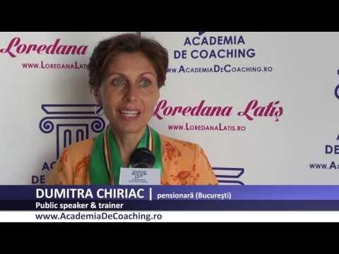 DUMITRA CHIRIAC Absolvent Public Speaking Academia Romana De Coaching, iulie 2017