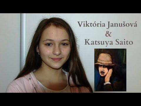Viktória Janušová  & Artist Painter Katsuya Saito