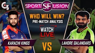Lahore Qalandars vs Karachi Kings Live Pre Match Analysis | Sports Fusion Live | GTV News
