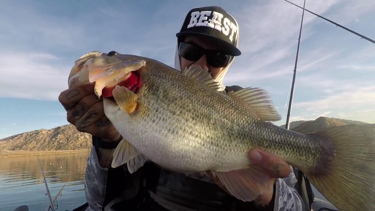 Fat pre spawn bass lake perris youtube for Lake perris fishing report