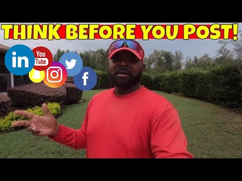Posting personal views on your growing lawn care business social media may hurt you