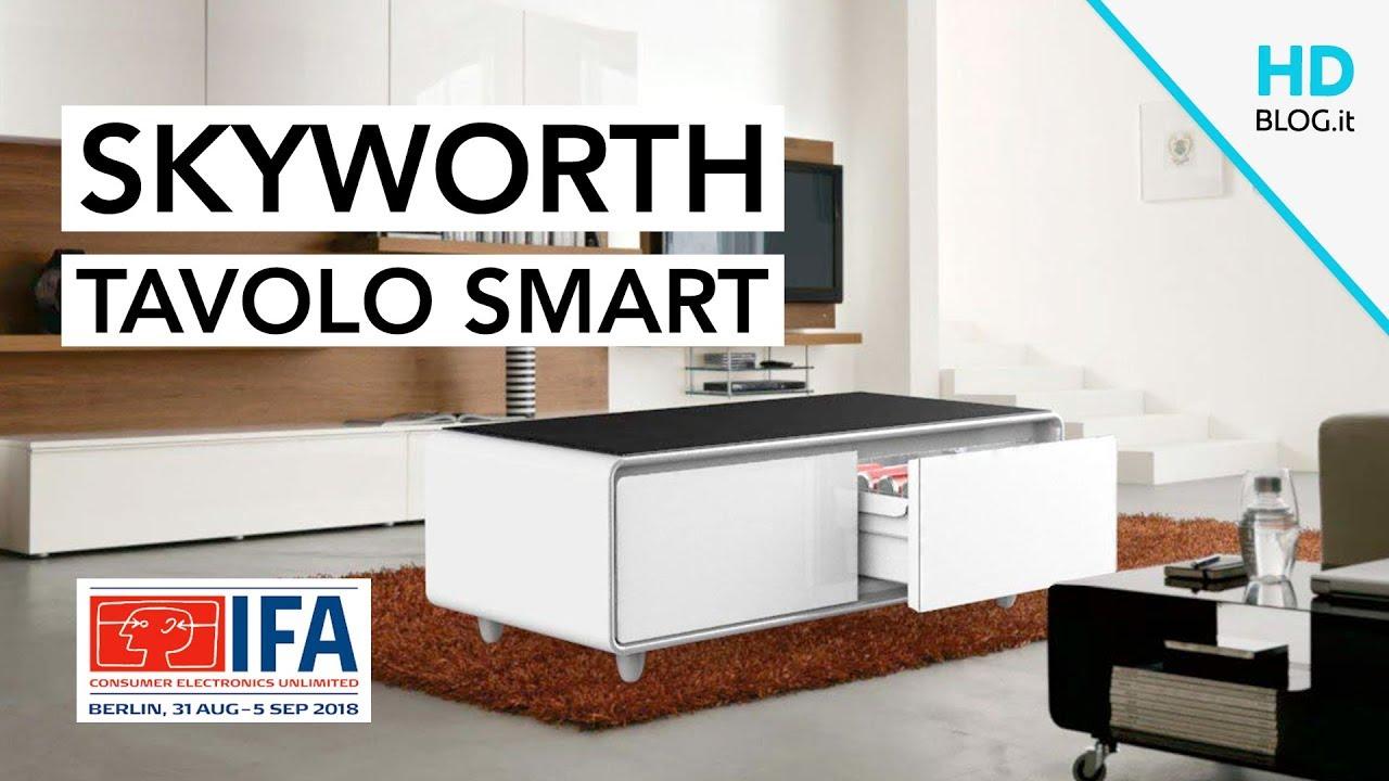 Skyworth 130BL, il tea-table SMART con frigo e speaker | #IFA2018 ...
