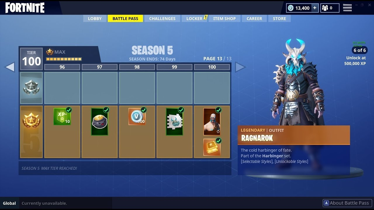 Buying All 100 Tiers Fortnite Season 5 Battle Pass All Items