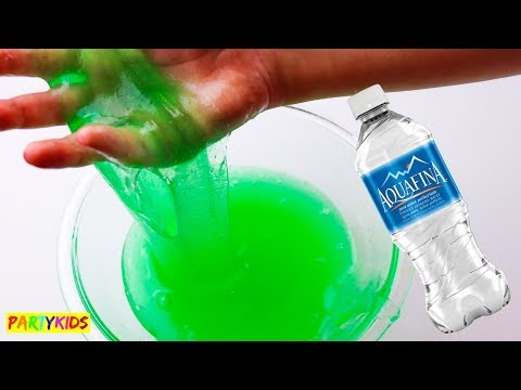 How to make jiggly water slime without glue