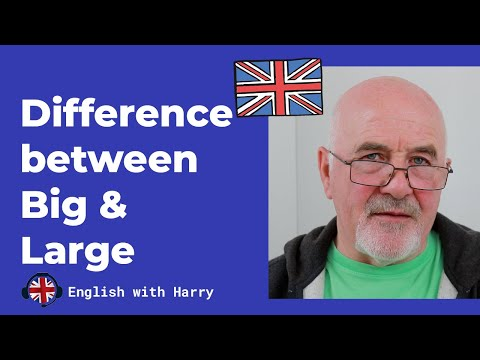 Difference between Big and Large - Intermediate Level English