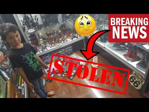 OUR HOUSE GOT ROBBED!! THEY STOLE OUR REVIEW STATION!! LEGOS, CARS, TOYS, CARDS ALL GONE!!