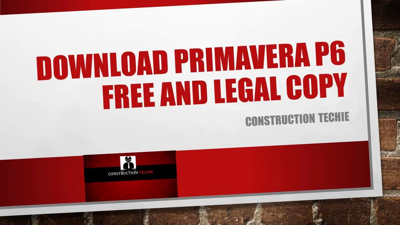 oracle primavera p6 free download