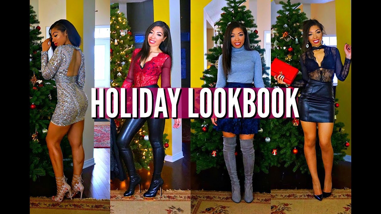 ef2c865f03c2 HOLIDAY PARTY, NEW YEARS EVE & WINTER LOOKBOOK - OUTFIT IDEAS & HOW TO  STYLE | VLOGMAS DAY 12