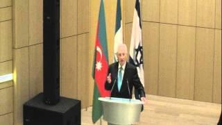 Shimon Peres speaks at ADA University in Baku