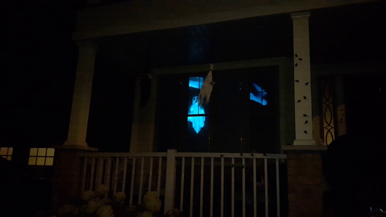 Flying Ghosts 2017 Digital Halloween Decorations Window