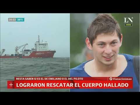 Lograron rescatar un cuerpo del avión de Emiliano Sala - PM