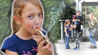Social Experiment #54 : Kids and smoking.