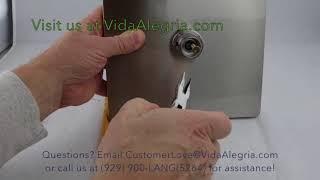Vida Alegria RAIN Spa Shower Flow restrictor Removal