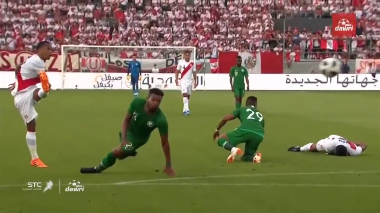 الأهداف التي تلقاها المنتخب السعودي في المرحلة الإعدادية لكأس العالم 2018