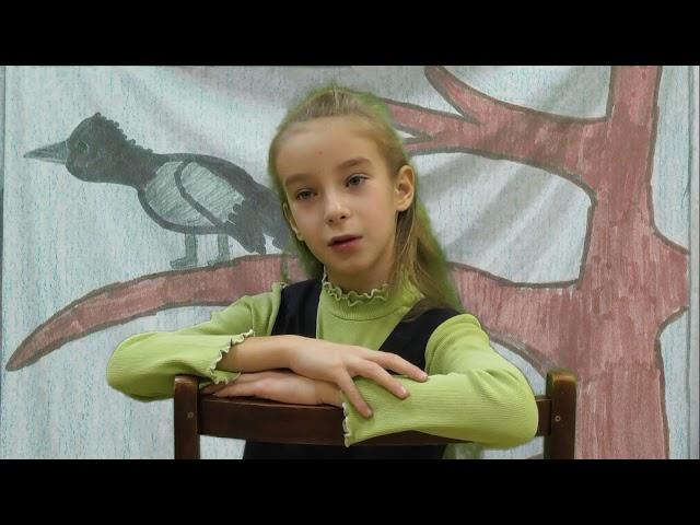 Изображение предпросмотра прочтения – ПолинаБибикова читает произведение «Ворона» А.А.Блока