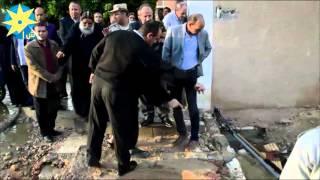 بالفيديو محافظ البحيرة يتفقد آثار السيول بدير الأنبا بيشوى
