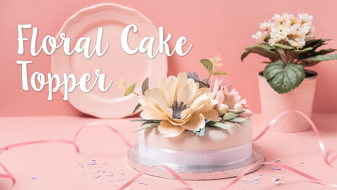 Diy Floral Wedding Cake Topper Sizzix Youtube