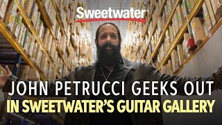 John Petrucci Geeks Out In Sweetwater's Guitar Gallery 🎸