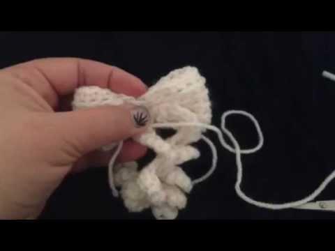 Strik Haken Crochet A Bow Dutch Tutorial Youtube