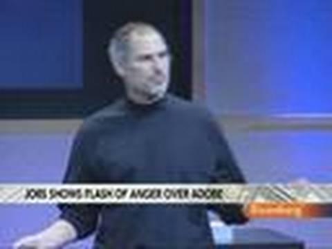 Apple's Steve Jobs Steps Up Attack on Adobe's Flash: Video