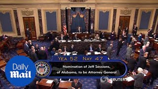 Senate votes to confirm Jeff Sessions as next attorney general - Daily Mail