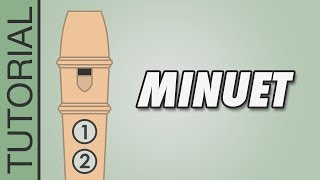 Bach - Minuet - Recorder Notes Tutorial