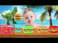 Bad Baby Crying And Learn Colors with Hamburger - Best Learning Videos for Kids Finger Family  #KRP