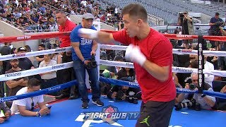 CANELO VS GGG 2 - GENNADY GOLOVKIN'S MEDIA WORKOUT HIGHLIGHTS!