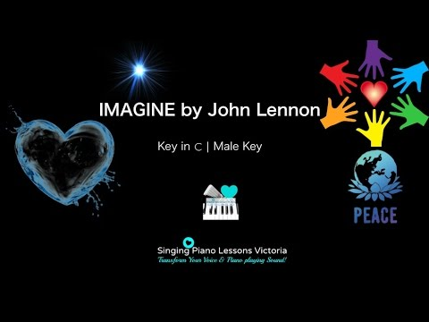 Imagine, John Lennon - Karaoke, Instrumental in Male Key C with Lyrics & Chords