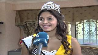 Miss UK Beautiful Sarah Archer Iraqi TV