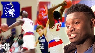 ZION Williamson POSTER AND WINDMILL!! 8 DUNKS IN A GAME! Coach K's REACTION to HIS DUKE Commitment!