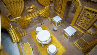 Download The Most Beautiful Underground Gold Castle Villa House Build by Ancient Skills