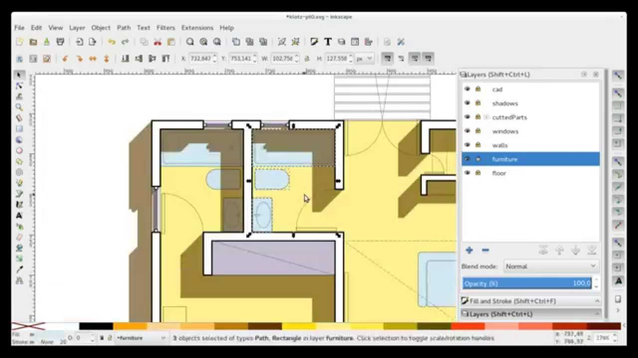 what inkscape can do for architecture youtube. Black Bedroom Furniture Sets. Home Design Ideas