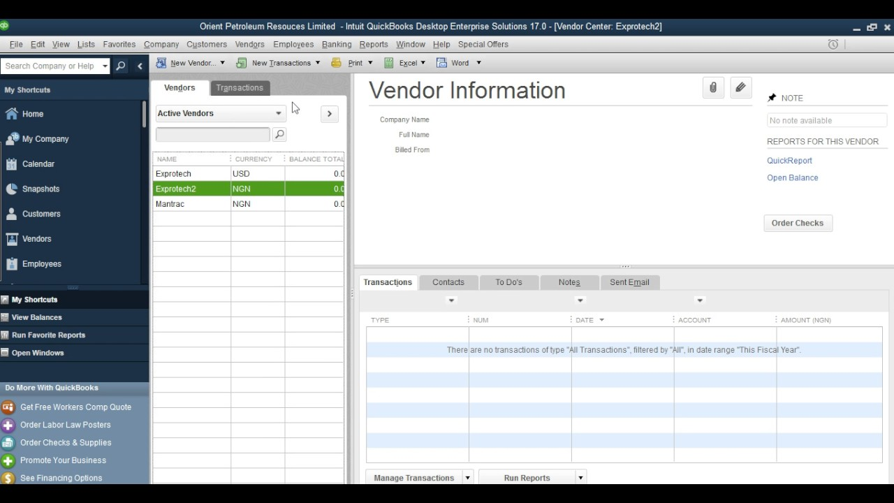 How To Add Vendors In QuickBooks Desktop