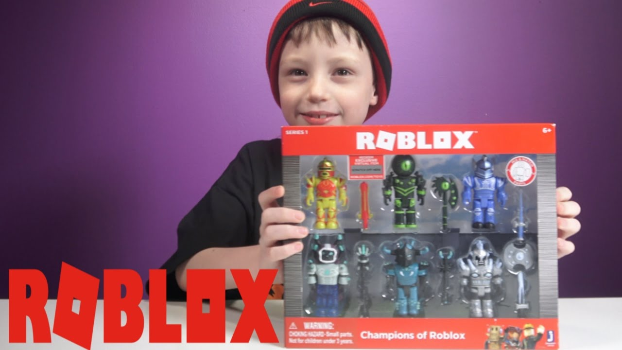 Roblox Toys Champions Of Roblox Roblox Toys Part 1 Champions Pack Youtube