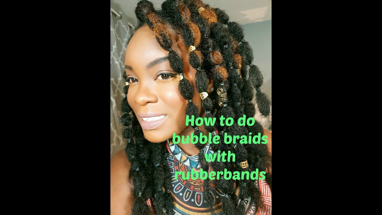 Bubble Braids With Rubberbands Hairstyle Youtube