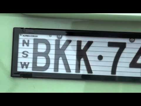& Altrex Number Plate Protector - Installation - YouTube