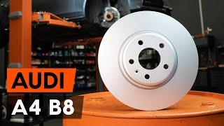 Kā mainīties priekšā un aizmugurē Bremžu diski AUDI A4: video pamācības