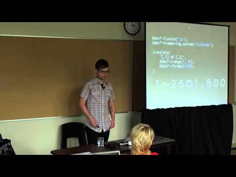 OSB2014 - Nick Patch - Unicode Beyond Just Characters: Localization with the CLDR