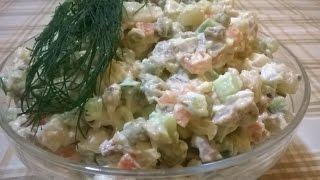 Салат ОЛИВЬЕ классический (зимний салат). Рецепт Салата ОЛИВЬЕ (зимнего салата).