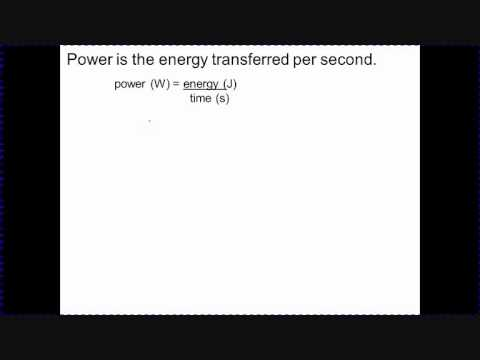 Power, energy and time