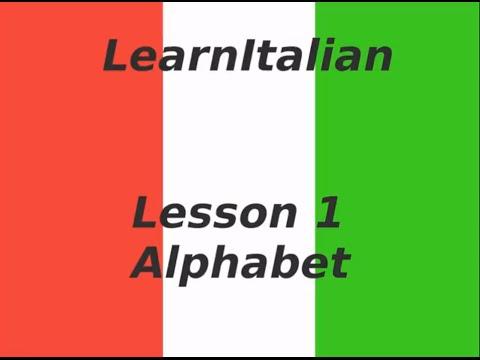 Learn Italian - Italian Alphabet Pronunciation - YouTube