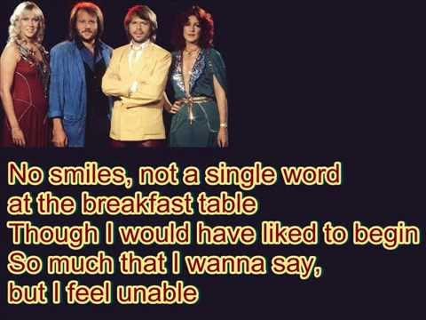 ABBA-One Man,One Woman (Lyrics)