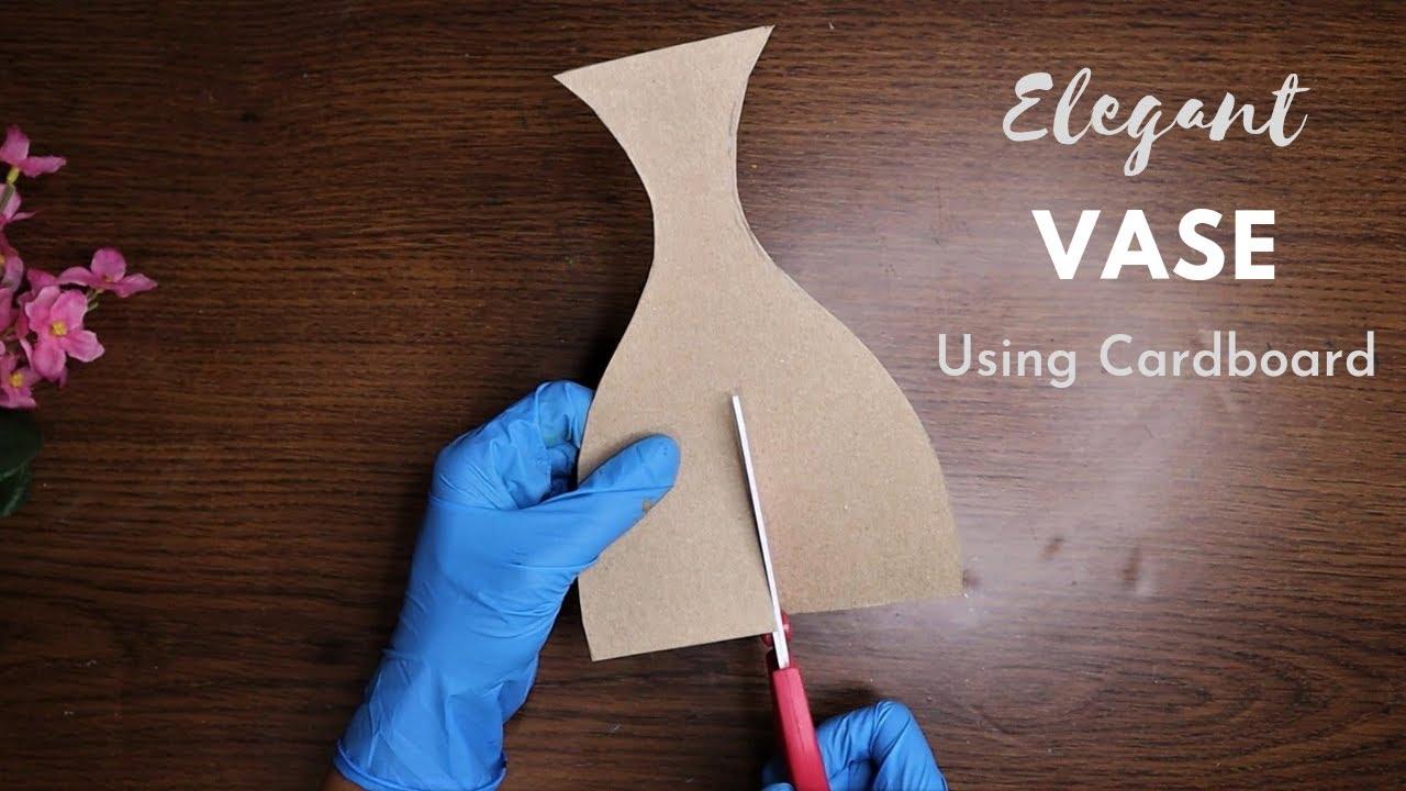 Turn cardboard into elegant vase/home decor/art and craft/CreativeCat/Craft ideas