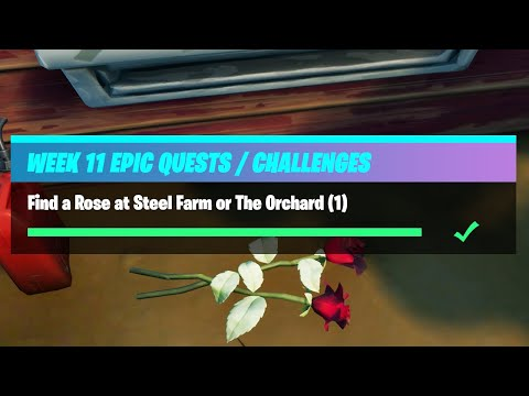 Find a Rose at Steel Farm or The Orchard (1) - Fortnite Week 11 Challenges