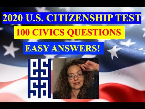 2020 Civics Questions for US Citizenship Interview