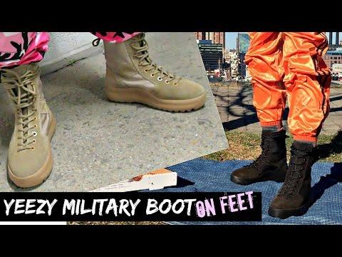 YEEZY Season 3 Rock & Onyx Military Boot | ON FEET
